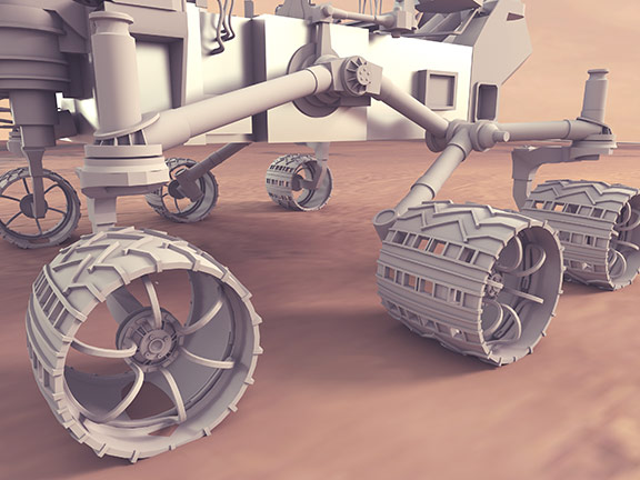 Space mars rover detail