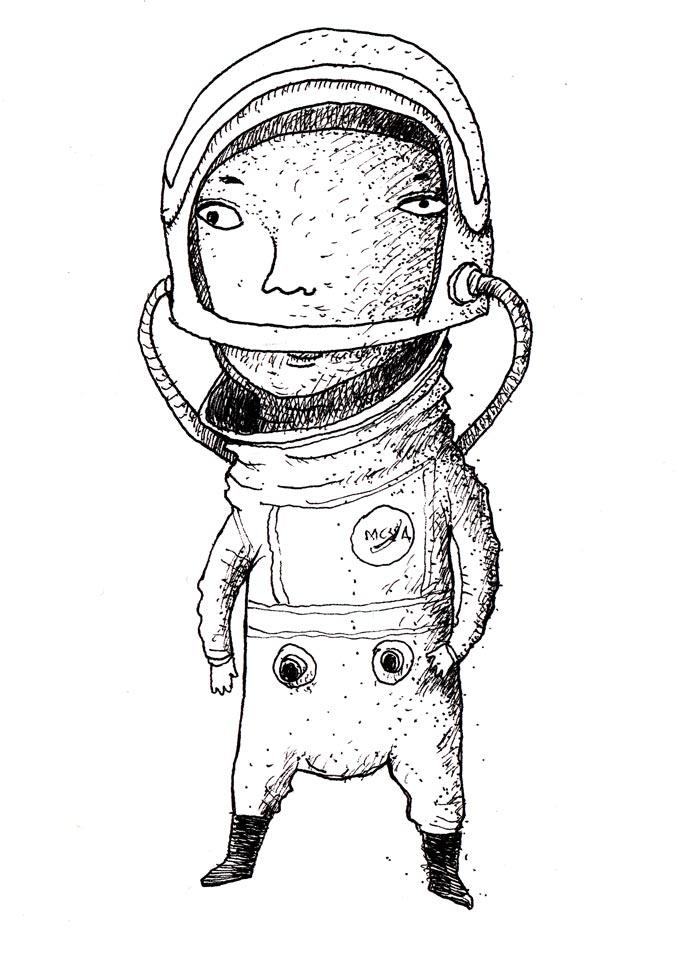 detailed drawings of astronauts - photo #46